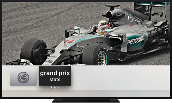 Grand Prix Stats Apple TV App screenshot