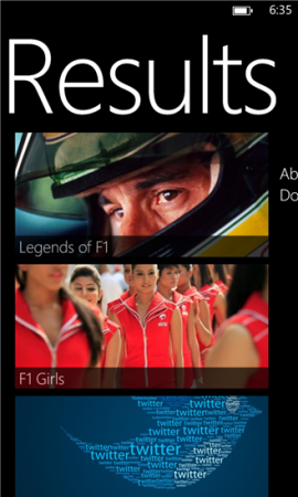 F1 Results screenshot